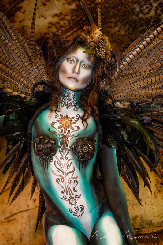 body painting photography Marco Mazzini Luxembourg