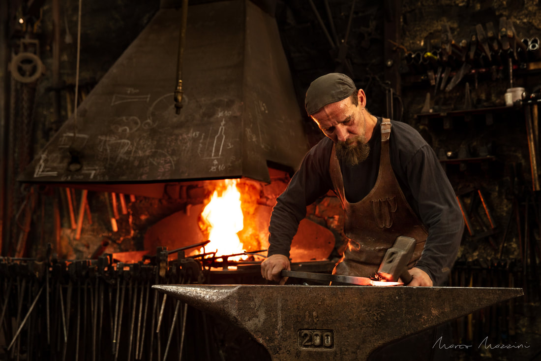 Blacksmith's shop corporate Photography Luxembourg with fine art touch